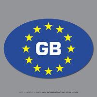 SKU2530 - Euro GB Oval Sticker EU European Road Legal Car Badge Vinyl