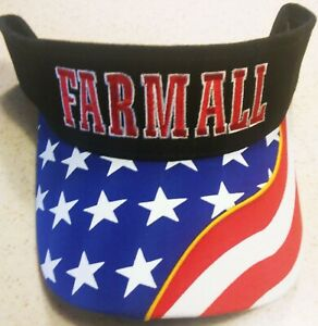 Sale! FARMALL Logo R/W/B Embroidered Visor