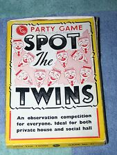VINTAGE PGP PARTY GAME SPOT THE TWINS 1960'S