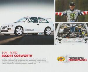 2017 Ken Block '91 Ford Escort Cosworth Shell SEMA Show Promo Rally Hero Card