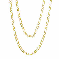 Necklace 3.20mm Thick RealGold Lobster Clasp Solid 14Kt Yellow Gold Figaro Chain