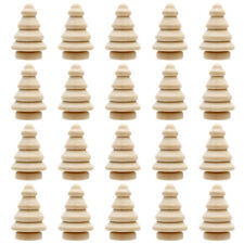 More details for 20pcs unfinished blank christmas tree peg dolls cake toppers ornament diy craft