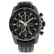 Seiko Genuine Leather Band Round Wristwatches