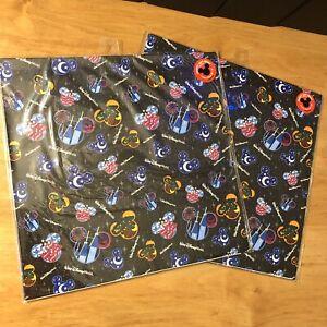 "2 Walt Disney World Mickey Gift Wraps - 4 Sheets Total 20""x30"" Each"