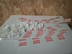Carrera (Go!!! 143) 21 white guard rails with 69 guard rail support clips