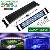 29-177.5cm Aquarium LED Lighting Full Spectrum Marine Fish Tank Light Over-Head
