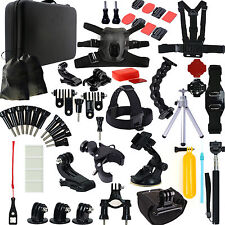 Dog Fetch Harness Chest Head Monopod For GoPro Hero 4 3+ 3 2 Accessories Set Kit