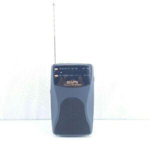 GPX Portable AM/FM Pocket Radio A2093 Battery Powered! Built in Speaker!