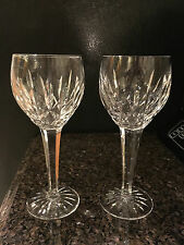"2 Waterford Ballymore White Wine or Dessert Wine glasses / goblets 7"" tall 5 oz"