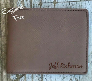 Personalized Mens Wallet, Inside and/or Outside Engraving, Engraved As Shown