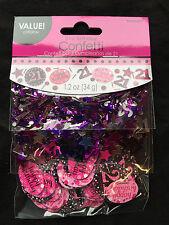 21st compleanno decorazioni per la tavola Sprinkle NERA ROSA VIOLA 21 ANNI FESTA