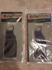 Chef Works Bib Apron Unisex Lot of 2 new in bag un opened