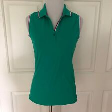 Lady Hagen Sleeveless Athletic Top - Green With Pink & White - Xs