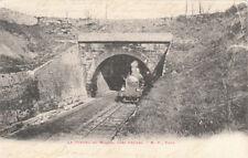 BEZIERS le tunnel au Malpas chemin de fer train locomotive timbrée 1905