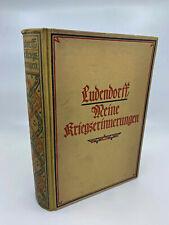 ERICH LUDENDORFF Meine Kriegserinnerungen 1914 1918 Berlino