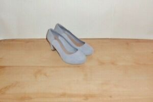 CLARKS Chorus Nights Artisan womens suede heeled shoes sz 5 E  EU 38  WIDE BNIB