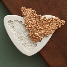 Relief Baroque Lace Silicone Fondant Mould Vintage Cake Border Decorating Mold