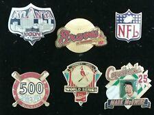 Vintage Mlb & Nfl Sports Memorabilia Hat or Lapel Metallic Pins, Free Shipping !