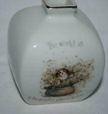 Holly Hobbie vintage bud vase, with cat design