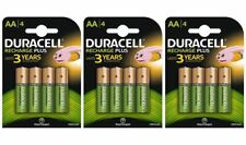 12 x Duracell AA 1300 mAh PRE/ STAY CHARGE Rechargeable Batteries NiMH HR6 phone