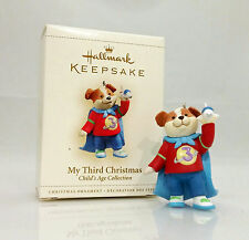 Hallmark Ornament 2006 My Third Christmas Boy Childs Age Collection #QXG2866-SDB