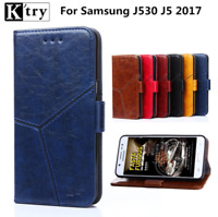 For Samsung Galaxy J5 2017 J530F J530 Magnetic Flip PU Leather Wallet Cover Case