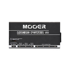 Mooer Macro S8 Guitar Bass Effects Pedal Stompbox 9V 12V 15V 18V Power Supply