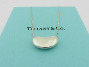 TIFFANY & CO Sterling Silver Large Bean Pendant Necklace