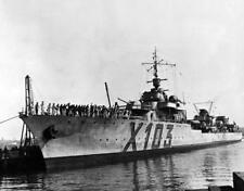 Photo.  WW2.  Ship - Le Terrible (X 103)