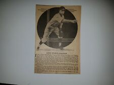 Leon Chagnon 1935 Sporting News LARGE Profile Panel Insert #A