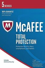 McAfee 2017 Total Protection 5 Device PC/Mac/Android VAT inc EMAILED Same Day UK