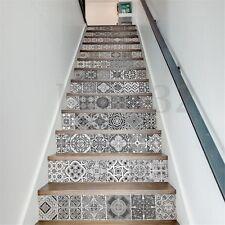 13 Pcs/Set 3D Stairs Tile Riser Sticker PVC Murals Decor Vinyl Wall Art Decal
