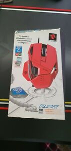 Mad Catz RAT R.A.T. 7 Gaming Mouse Glossy Red Limited Edition TESTED