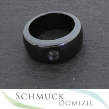 Melano-magnetic cerámica ring - 10 mm-negro-talla 50 nuevo