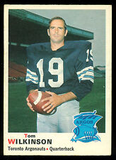 1970 OPC O PEE CHEE CFL FOOTBALL #6 TOM WILKINSON EX+ TORONTO ARGONAUTS WYOMING