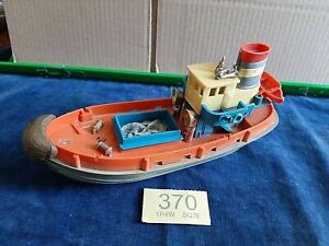 VINTAGE PLASTIC TOY BOAT -- Made in Hong Kong