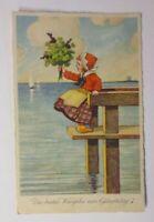 Geburtstag, Kinder, Mode, Kleeblatt, Meer,  1930  ♥ (42061)