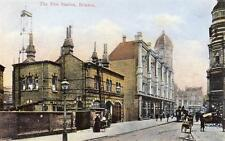 Fire Station Brixton Lambeth old postcard used 1906 F C Morgan
