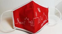 Mascherina Firenze - Panorama rossa- Mascherine Made in Italy - 100% Cotone