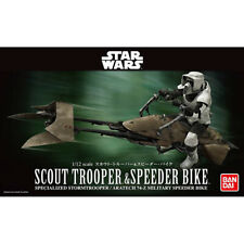 BANDAI 1/12 Star Wars Scout Trooper & Speeder Bike Plastic Model Kits Hobby NEW