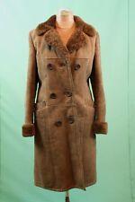 Schöner Damen Lammfell Mantel ca 44/L braun Leder weich shearling leicht vintage