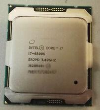 Intel Core i7-6800K 3.4GHz 6-Core 12THREADS PROCESSOR Socket 2011-3 x99 CPU