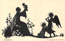 POSTCARD   CHILDREN   SILHOUETTE    Adoration   Margaret  Tarrant