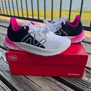 NIB New Balance Women's White/Black/Pink Fresh Foam Roav Running Shoes Sz 8.5