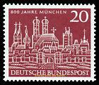 EBS Germany 1958 800th Anniversary Munich München Michel 289 MNH**