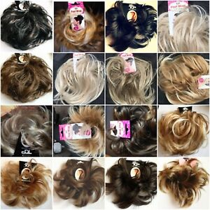 Hair Scrunchie Messy Bun Updo Wrap Hairpiece Wavy Or Curly Extension Large Small