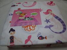 ZZZ's MERMAIDS Star Fish Octopus Twin Sheet Set ~ Pink, Purple, Orange, Navy