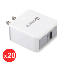 20x Quick Fast Charge 3.0 Qualcomm 18W USB Wall Charger For iPhone X Samsung HTC