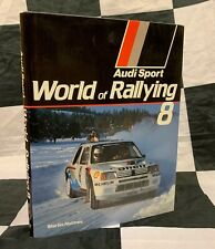 1985 - 1986 AUDI SPORT WORLD OF RALLYING 8 YEARBOOK ANNUAL BOOK WRC TIMO SALONEN