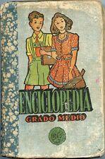 ENCICLOPEDIA GRADO MED Vintage School Book Libro Texto Colegio 1954, 677 Pages G